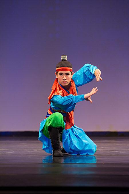 2016 舞蹈大賽青年男子組高橋俊夫, Toshio Takahashi表演《林沖夜奔》。(戴兵/大紀元)