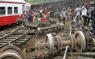 喀麦隆火车21日发生出轨意外,造成至少55死,高达575人受伤。(STRINGER/AFP/Getty Images)