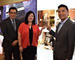 高鸿集团总裁暨联合创办人陈莞君女士(中)、SQFT Global 董事董小可先生(右),及Singapore Christie's Real Estate 常务董事游启强先生(左)宣布在港发售29个The Ritz-Carlton Residences单位,由SQFT Global 及Singapore Christie's Real Estate为独家代理。(公关提供)