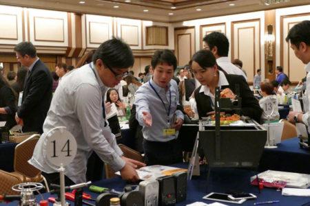 「2016年台灣優質產品及專利產品展」9月30日在東京辦展圓滿落幕,獲日企青睞,促成現場下單約254.3萬美元、後續商談的可能訂單約5958.5萬美元。(中央社)