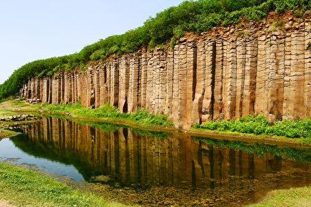 澎湖大菓葉柱狀玄武岩。(高健倫/大紀元)