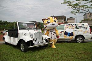 貓裏喵行銷苗栗的公務車。(許享富 /大紀元)