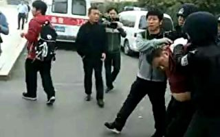 10月21日,山東濟南市歷城區郭店中學內發生男子持刀砍人,劫持人質事件。(村民提供)