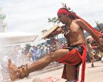 位於中美洲的薩爾瓦多居民在慶祝世界原住民日。 (MARVIN RECINOS/AFP/Getty Images)