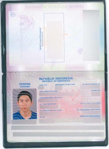 圖為男子使用的假護照。(澳洲新州警方)