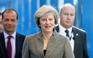 英國大選在即,保守黨民調大幅領先。圖為英國首相特里莎·梅。(Matt Cardy/Getty Images)