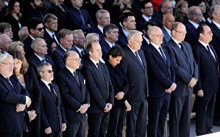 组图:法国隆重悼念尼斯恐袭遇害者