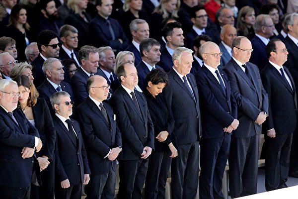 組圖:法國隆重悼念尼斯恐襲遇害者