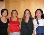 「一同關愛亞裔心靈」(TEAM)網站啟動儀式上,主要發起人(右起)黃千姬、Pata Suyemoto、Kim Nghiem與Christina R. Chan合影。(貝拉/大紀元)