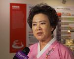 韓國泡菜女王金巡秄來到紐約傳播韓國泡菜文化。 (陳志力/大紀元)