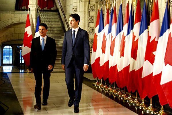 法國總理訪加 促簽加歐自由貿易協定