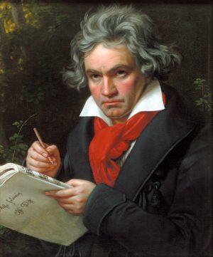 贝多芬肖像,约瑟‧卡尔‧施蒂勒(Joseph Karl Stieler)绘。(维基百科公有领域)