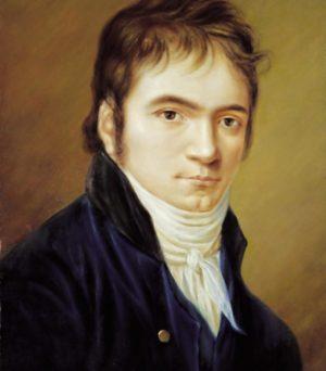 貝多芬從非常年輕時就開始寫主題變奏曲。圖為1803年的貝多芬像。(公有領域)