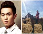 張若昀在拍攝《霍去病》期間練習騎馬。(張若昀微博/大紀元合成)