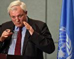 联合国人道主义事务副秘书长兼紧急救济协调员奥布赖恩(如图)于2016年10月24日发表一份声明,谴责叙利亚参战的各方党派阻碍撤离阿勒颇伤患的救援行动。(FAYEZ NURELDINE/AFP/Getty Images)