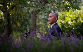 10月5日,一項最新民調顯示,美國總統奧巴馬的執政支持率升至55%。(JIM WATSON/AFP/Getty Images)