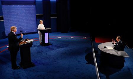 美國總統大選最後一場辯論會將於美東時間今(19日)晚9點,在內華達州大學拉斯維加斯分校舉行。(Mark Ralston-Pool/Getty Images)
