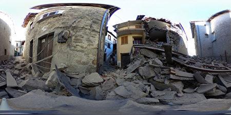 義大利PERUGIA,被震毀的建築(360度)。Getty Images)