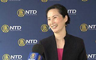 图为第七届全世界中国古典舞大赛评委李维娜接受新唐人电视台采访。(胡志华/新唐人)