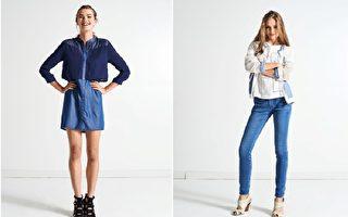 2017年的春夏流行色彩趨勢,「丹寧藍」堪稱實穿又耐看。(Lee/大紀元合成)
