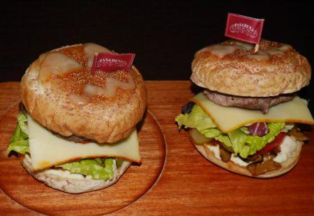 帕莎蒂娜駁二倉庫餐廳四人分享餐則另有牛肉起司漢堡。(方金媛/大紀元)