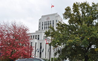 圖:溫哥華市政府大樓外景(唐風/大紀元)