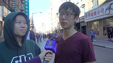 纽约民众谈对第二次大选的观感。