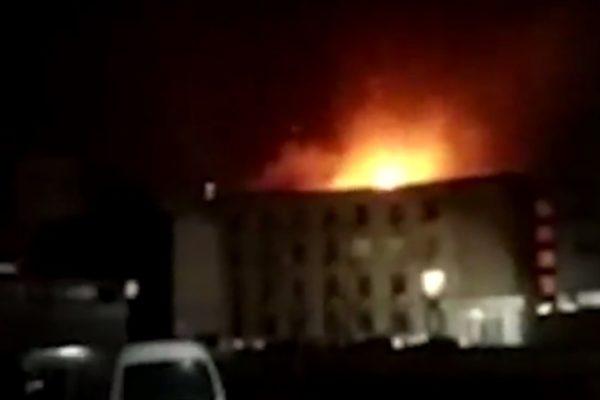 河南开封市东郊晋开化肥厂发生爆炸。(网络图片)