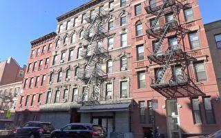 麦迪臣街(Madison Street )81号公寓楼获资金整修。 (蔡溶/大纪元)