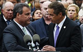 新澤西州州長克里斯汀(左)和紐約州州長庫默(右)。 (Eduardo Munoz Alvarez/Getty Images)