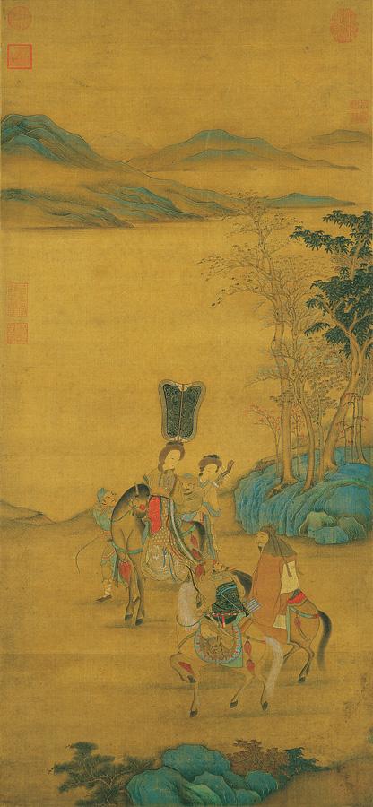 《明妃出塞图》,台北故宫博物院藏。(公有领域)