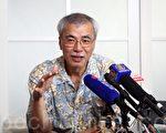 前《信报》主笔练乙铮接受本报专访时,表示特首梁振英挑起释法,或会加速下台。(大纪元资料图片)