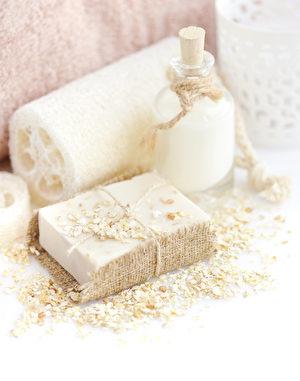 手工皂燕麥和牛奶