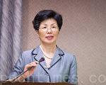 陸委會主委張小月表示,「洪習會」是民間交流,沒政府授權不能簽署相關協議。(陳柏州/大紀元)