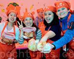 第三届首尔泡菜文化节于11月4日~6日在韩国首尔广场一带举办。 这是外国人共同参与的世界性泡菜庆典。(全景林/大纪元)