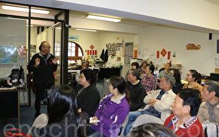 15日上午,华埠街坊会向唐人街小商业主举办了一场围绕SB269的新法案介绍会。(李霖昭/大纪元)