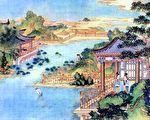 清代孫溫繪製《紅樓夢》凹晶館圖畫(公有領域)