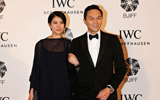 张智霖袁咏仪夫妇合照。(Lintao Zhang/Getty Images for IWC)