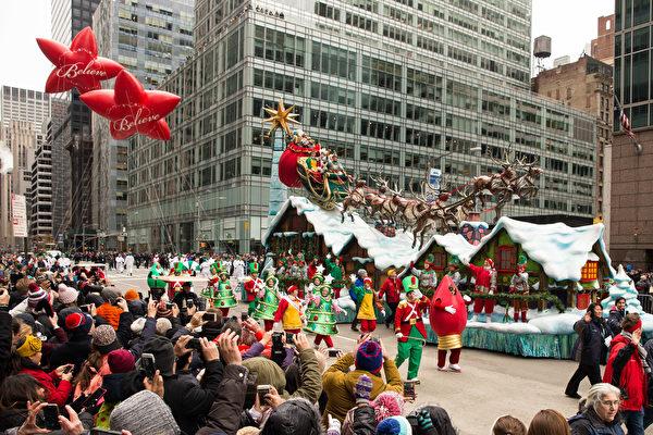 组图:纽约第90届梅西感恩节大游行