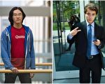 MIT两名华裔学生凯文.周(Kevin Zhou,见图左)和丹尼尔.邹(Daniel Zuo)今年获得马歇尔奖学金。(大纪元合成)