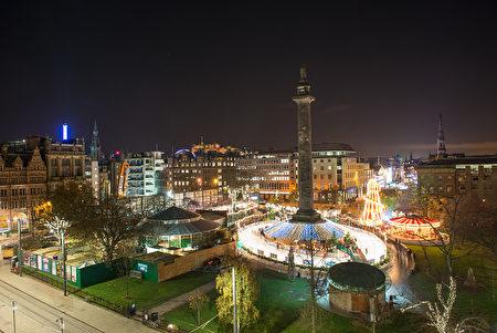 爱丁堡中心圣安德鲁广场。(Roberto Ricciuti/Getty Images)