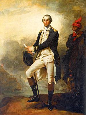 《华盛顿将军画像》(Portrait de George Washington),约翰.特朗布尔(John Trumbull,1756-1843)绘于1780年。(维基公共领域)