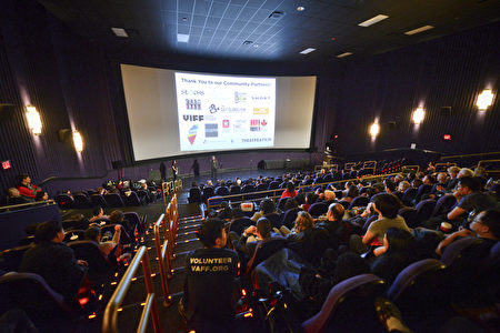图:电影《血刃》在温哥华亚洲电影节加拿大首映现场。 (大宇/大纪元)