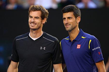 2016年ATP年终总决赛,新科世界第一穆雷和德约科维奇将打响年终世界第一之争。(Cameron Spencer/Getty Images)