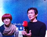 台湾电影导演魏德圣(右)和演员小乔(左)出席首届多伦多台湾电影展。(伊铃/大纪元)
