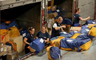网络星期一是联邦快递(FedEx)一年中最繁忙的一天。  ( Joe Raedle/Getty Images)
