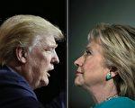 美國大選已陸續在計票中。(JAY LAPRETE,BRENDAN SMIALOWSKI/AFP/Getty Images)