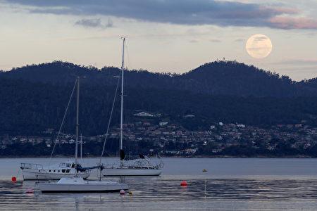 NASA表示,一直到2034年的11月25日之前,都不會再有這麼接近地球的滿月了。(Robert Cianflone/Getty Images)