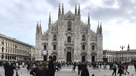 意大利米兰的米兰主教座堂(Duomo Cathedral)。(彦榕/大纪元)