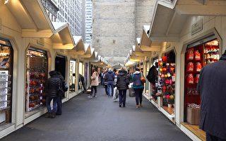 黑色星期五,五大道的购物市集显得有点冷清。 (舒雅/大纪元)